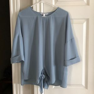 Light Blue Tunic Blouse
